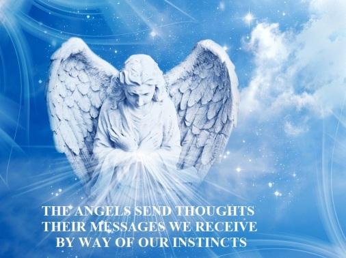 angel wit rays of light