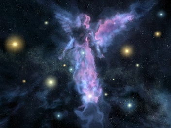 Angel shaped nebula